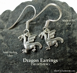 Sterling Silver Dragon Earrings
