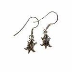 Sterling SIlver Horned Toad Earrings
