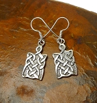 Sterling Silver Celtic Earrings, Celtic Shield Earrings