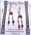Garnet Leverback Earrings, Sterling Silver and Garnet Gemstone Earrings