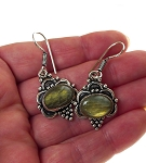 Labradorite Earrings, Bohemian Gemstone Earrings - SOLD