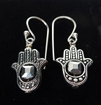 Hamsa Earrings, Evil Eye Warding Earrings