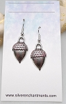 Silver Acorn Earrings with Glittering Patina, Acorn Jewelry - Everyday Silver Earrings