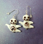 Ghost Earrings, Halloween Jewelry, 3D