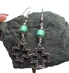 Turquoise Cross Earrings - Everyday Spiritual Jewelry