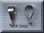 Sterling Silver Bail, Large .925 Silver Bail for Pendants