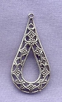 Sterling Silver Filigree Drop Earring Finding