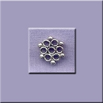 Sterling Silver Honeycomb Jewelry Finding, 12mm
