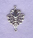 Sterling Silver Art Nouveau Tulip Chandelier Earring Dangler, Jewelry Connector