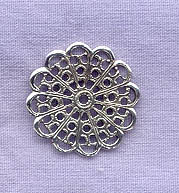 Sterling Silver Filigree Component, 20mm