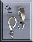 Sterling Silver Wrapped J-Hook Jewelry Clasp, 18mm