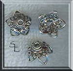 Sterling Silver Filigree 12mm Star Bead Caps (2)