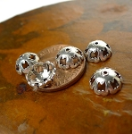 Sterling Silver Southwestern Pierced Beadcaps, 8.5mm Frill Edge (10)