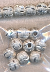 10mm Round Beads, Diamond Cut Stardust Ball Beads (10)