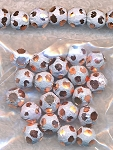 8mm Round Beads, Diamond Cut Fancy Stardust Ball Beads (20)