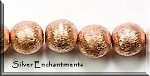 Brushed Copper Ball Beads, 10mm (2)