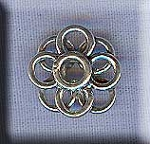 Sterling Silver Flower Rondelle, Link or Dangler Jewelry Findings (2)