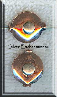 Sterling and Copper Puff Coin Beads (2)