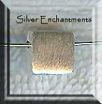 Brushed Sterling Silver Chicklet Square Beads, Top-drilled (2)