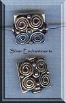 Sterling Silver Ornate Beads, 14x12mm (1)