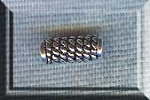 Sterling Silver Coil Tube Beads, 10mm (2)