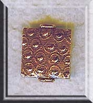 Copper Beads, Ornate Patterned Square 14x12mm (2)