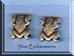 Sterling Silver Frog Beads (2)