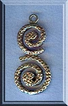 Sterling Silver Celtic Spiral Pendant, Celtic Necklace