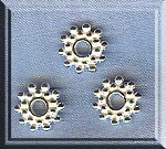 Bright Sterling Silver 9mm Snowflake Jewelry Spacers