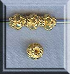 Vermeil Fancy Spacer Beads, Saturn Saucer 5mm (2)