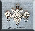Sterling Silver Fancy Scroll Chandelier Earring Findings (2)