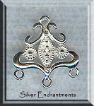 Sterling Silver Victorian Chandelier Earring Findings-Connectors (2)