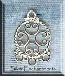 Sterling Silver Ornate Scroll Earring Findings (2)