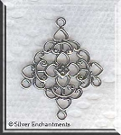 Sterling Silver Filigree Diamond Chandelier Earring Parts (2)