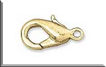 Lobster Clasps 12x6mm Gold Plated 10 per bag