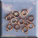 Copper Spring Ring Clasps, 6mm (10)
