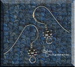 Sterling Silver Ear Wires with Bali Granulated Bead Accent, 5-Pair Earring Hooks