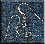 Silver Plated French Earwires with Double Ball, 10pcs