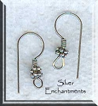 Sterling Silver Double Daisy Earring Hooks, Ear Wires, 5-Pairs