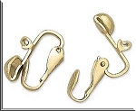 Ball Loop Clip Earring Parts, Gold-tone, 10 Pair, 20pc