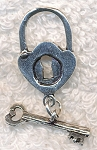 Sterling Silver Lock and Key Toggle Clasp
