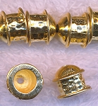 Multi-Strand End Caps with 5.5mm Opening, Gold Plated (2)
