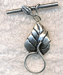 Sterling Silver Leaf Toggle Clasps