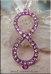 Pink Infinity Jewelry Findings with Crystals