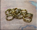 8mm Brass Split Rings, 10-pieces
