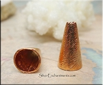 Solid Copper Jewelry Cones, Brushed Finish Cones with 9mm Opening (2)