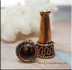 Solid Copper Fancy Jewelry Cones with 7mm Opening (2)