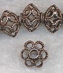 Solid Copper 18mm Filigree Rondelle Beads (2)