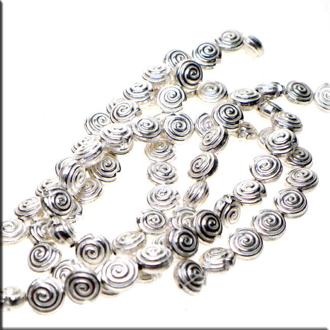 Sterling Silver 30x8mm Seashell Charm