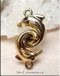 Gold Plated Dolphin Magnet Clasp